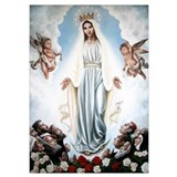 Blessed virgin mary Wrapped Canvas Art
