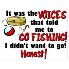 Voices in my Head Fishing Poster