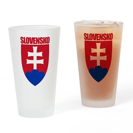 Slovak Republic COA Drinking Glass