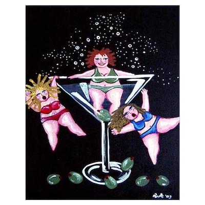 3 Martini Divas Poster