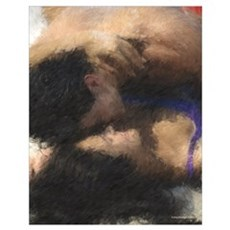 The Lovers Painting Poster