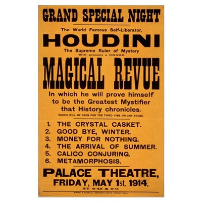 Houdini Magical Revue Poster