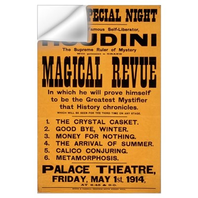 Houdini Magical Revue Wall Decal