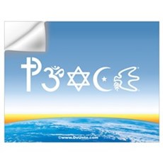 Peace-OM on earth Day Wall Decal