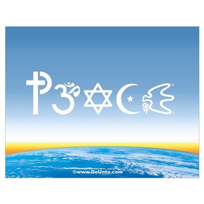 Peace-OM on earth Day Poster