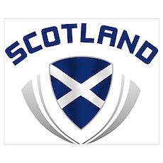 Soccer Crest SCOTLAND Poster