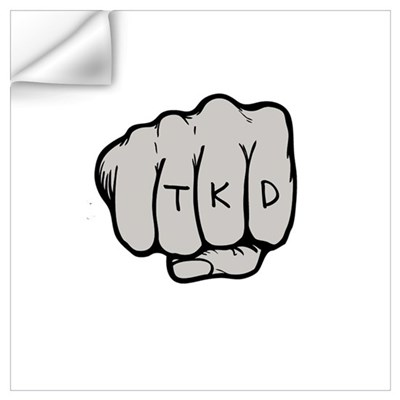 TKD Fist Wall Decal