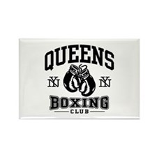 Queens Boxing Rectangle Magnet