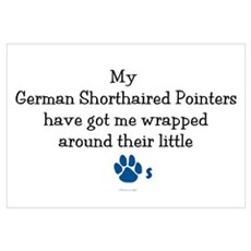 Wrapped Around Their Paws (German SH Pointer) Mini Framed Print