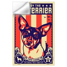 Obey the Rat Terrier! USA Wall Decal