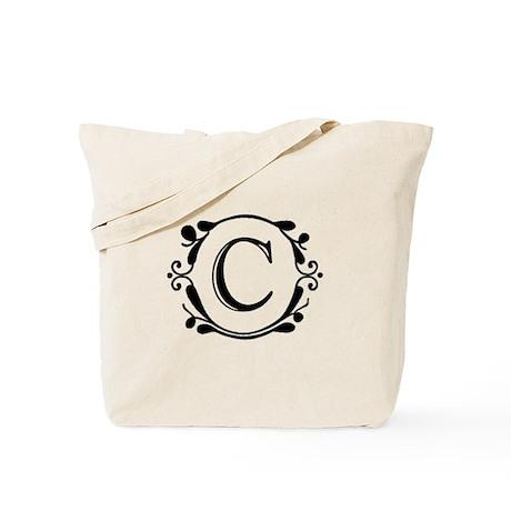 INITIAL C MONOGRAM Tote Bag