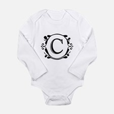 INITIAL C MONOGRAM Long Sleeve Infant Bodysuit