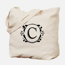 INITIAL C MONOGRAM Tote Bag