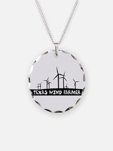 Texas Wind Farmer Necklace Circle Charm