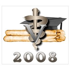 Vet Grad 2008 Canvas Art