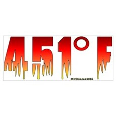 451 Degrees Fahrenheit Poster