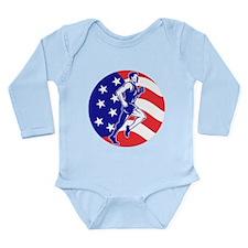 American Marathon runner Long Sleeve Infant Bodysu