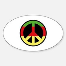 Peace Sign Sticker (Oval)