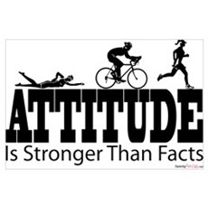Attitude Is Stronger Triathlon Poster