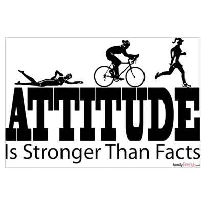 Attitude Is Stronger Triathlon Framed Print