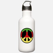 Peace Sign Sports Water Bottle