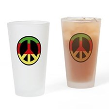 Peace Sign Drinking Glass