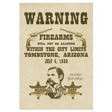 Warning - Firearms not Allowed Print
