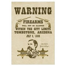Warning - Firearms not Allowed Print Framed Print