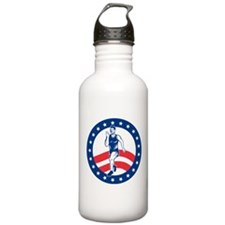 American Marathon runner Water Bottle