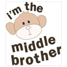 middle brother monkey Poster