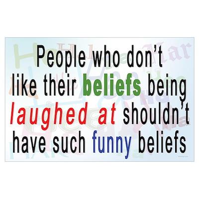 """""""Funny Beliefs"""" Poster"""