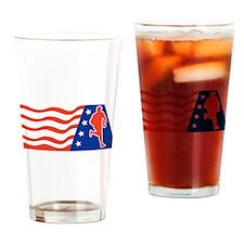 American Marathon runner Drinking Glass