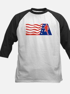 American Marathon runner Kids Baseball Jersey
