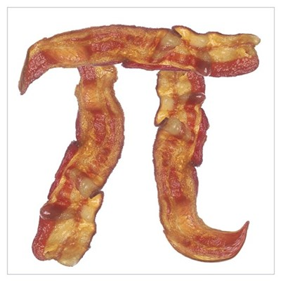 Bacon Pi Framed Print