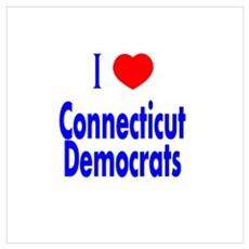 I Love Connecticut Democrats Poster