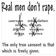 """Don't Rape"" Poster"