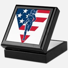American Marathon runner Keepsake Box