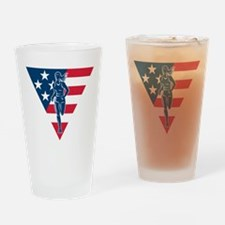 American Marathon runner Drinking Glass