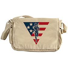 American Marathon runner Messenger Bag