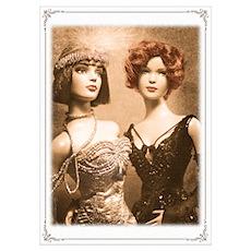 1920s Flapper Dolls ~ Poster