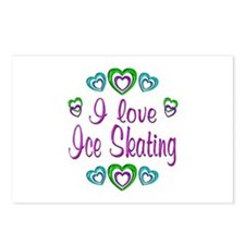 I Love Ice Skating Postcards (Package of 8)