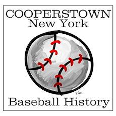 Cooperstown NY Baseball shopp Poster
