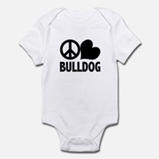 Peace Love Bulldog Onesie