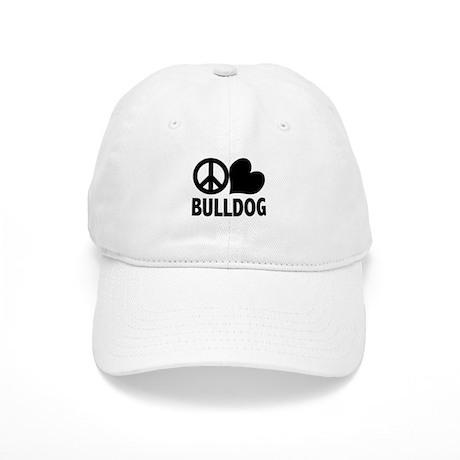 Peace Love Bulldog Cap