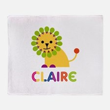 Claire the Lion Throw Blanket