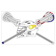 Lacrosse Helmet Poster
