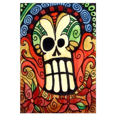 Day of the Dead Sugar Skull 1 Canvas Art