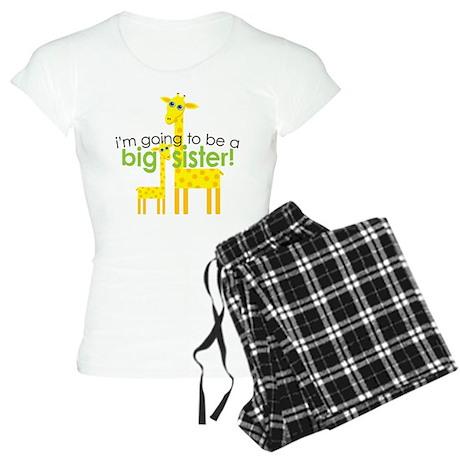Big Sister To Be Giraffes Women's Light Pajamas