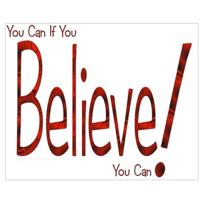 Believe! (Red) Canvas Art