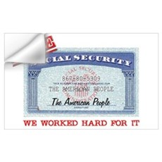 SAVE Social Security Wall Decal